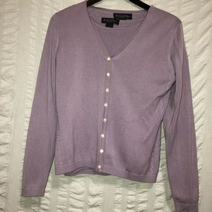 Brooks Brothers Silk Cardigan with Shell